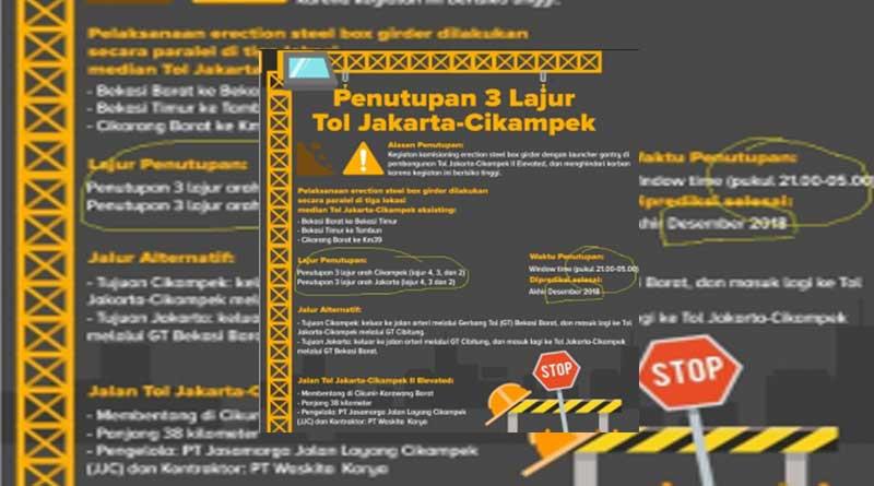 Hasil gambar untuk siaran pers PT Jasa Marga (Persero) Tbk, Selasa (13/11) siang