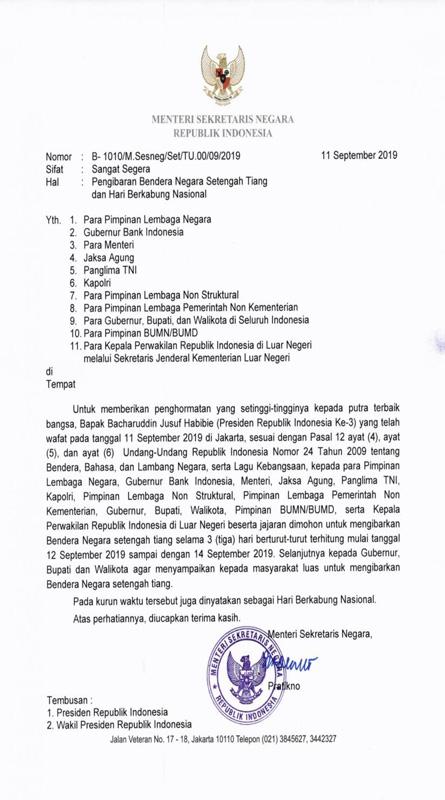 Surat Edaran BJ Habibie